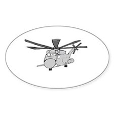 CH-53 Gray Oval Sticker (10 pk)
