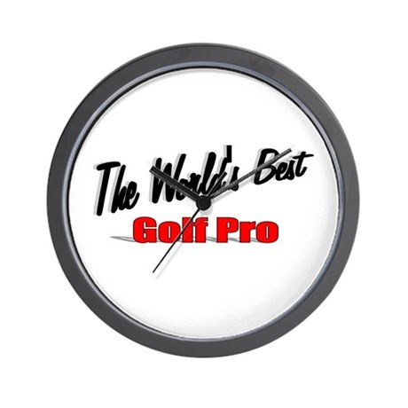 """The World's Best Golf Pro"" Wall Clock"