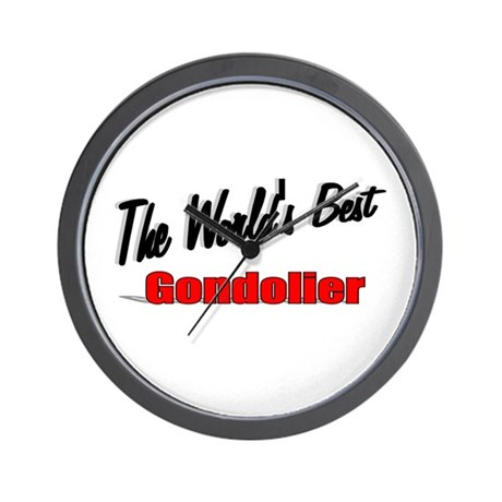 """The World's Best Gondolier"" Wall Clock"