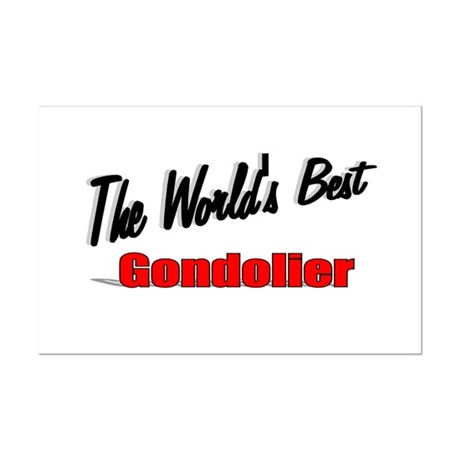 """The World's Best Gondolier"" Mini Poster Print"