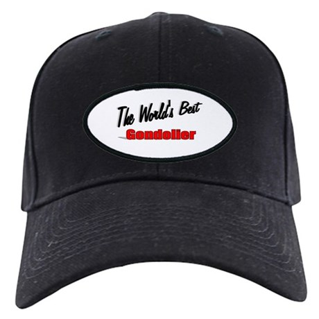"""The World's Best Gondolier"" Black Cap"