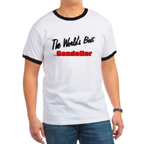 """The World's Best Gondolier"" Ringer T"