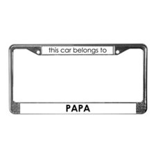 Papa License Plate Frame