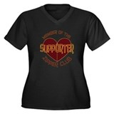 Supporter Women's Plus Size V-Neck Dark T-Shirt