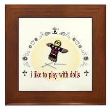 Voodoo Doll Framed Tile