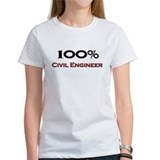 100 Percent Civil Engineering Surveyor Tee