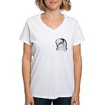 Reinaugen Pigeon Women's V-Neck T-Shirt