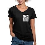 Reinaugen Pigeon Women's V-Neck Dark T-Shirt
