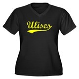 Vintage Ulises (Gold) Women's Plus Size V-Neck Dar