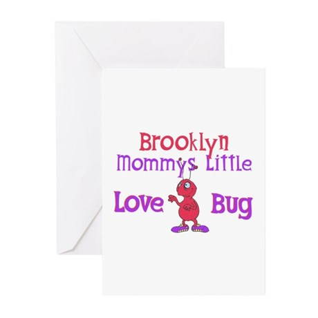 Brooklyn - Mommy's Love Bug Greeting Cards (Pk of