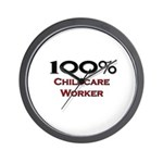 100 Percent Childcare Worker Wall Clock