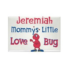 Jeremiah - Mommy's Love Bug Rectangle Magnet