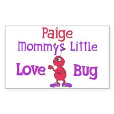 Paige - Mommy's Love Bug Rectangle Decal