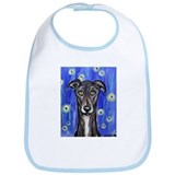 Portrait of a greyhound Bib