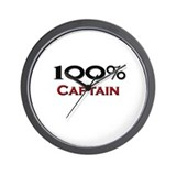 100 Percent Captain Wall Clock