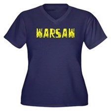 Warsaw Faded (Gold) Women's Plus Size V-Neck Dark