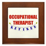 Retired Occupational Therapist Framed Tile