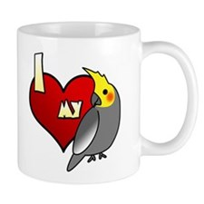 Love Male Gray Cockatiel Mug