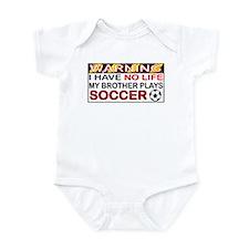 No Life Soccer Brother Infant Bodysuit