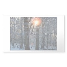 Snowy Sunrise Rectangle Decal