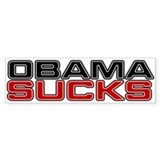 Obama Sucks Bumper Car Sticker