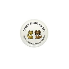 Don't Shop, Adopt Mini Button (100 pack)