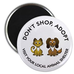 "Don't Shop, Adopt 2.25"" Magnet (100 pack)"