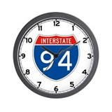 Interstate 94, USA Wall Clock