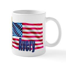 Avery Personalized USA Flag Mug