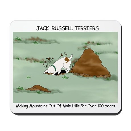 Jack Russell Terriers Digging Mousepad
