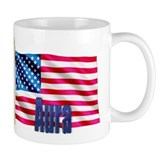 Aura Personalized USA Flag Mug