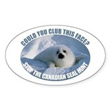 Canadian Seal Hunt Oval Decal