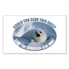 Canadian Seal Hunt Rectangle Sticker 50 pk)