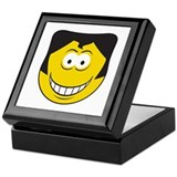 Elvis Impersonator Smiley Face Keepsake Box