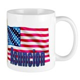 Asuncion Personalized USA Flag Mug