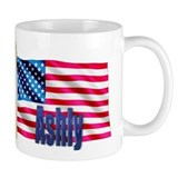 Ashly Personalized USA Flag Mug