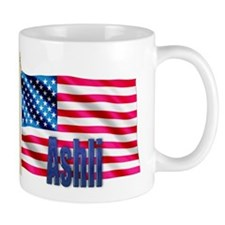 Ashli Personalized USA Flag Coffee Mug