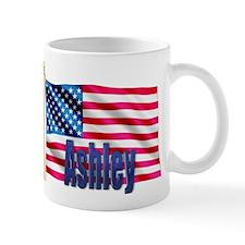 Ashley Personalized USA Flag Mug
