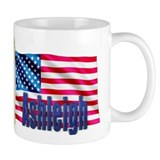 Ashleigh Personalized USA Flag Small Mug