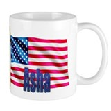 Asha Personalized USA Flag Mug