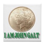Who is John Galt? Tile Coaster