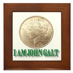 Who is John Galt? Framed Tile