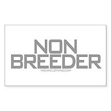 Non Breeder Rectangle Decal