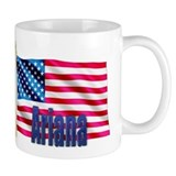 Ariana Personalized USA Flag Small Mug