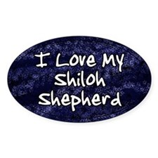 Funky Love Shiloh Shepherd Oval Decal