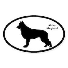 Shiloh Shepherd Silhouette Sticker (Euro-Style)