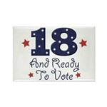 18 And Ready To Vote Rectangle Magnet (100 pack)