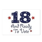 18 And Ready To Vote Postcards (Package of 8)