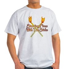 Starting Fires with 2 Sticks T-Shirt