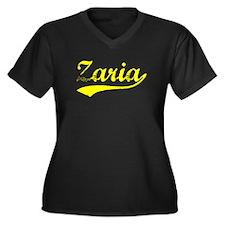Vintage Zaria (Gold) Women's Plus Size V-Neck Dark
